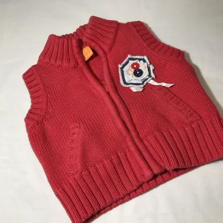 0-3 Months Red Woollen Body-Warmer
